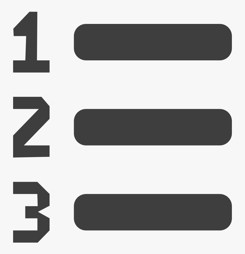 Icon Number List Png, Transparent Png, Free Download