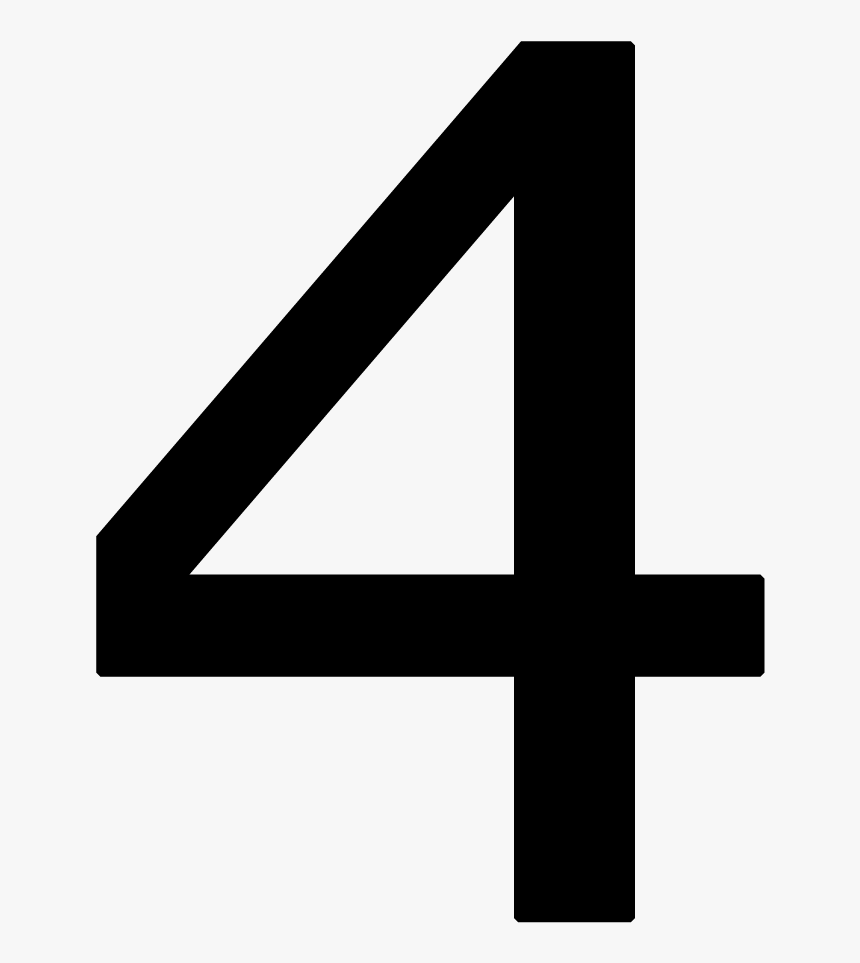 Number 4 Free Png Images Download - Number 4 Times New Roman, Transparent Png, Free Download