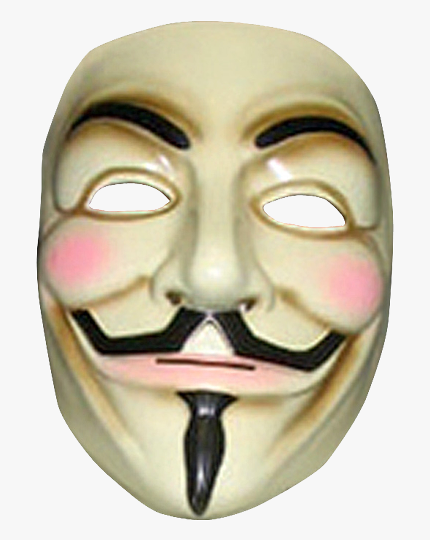 Anonymous Mask Png Clipart - V Per Vendetta Mask, Transparent Png, Free Download