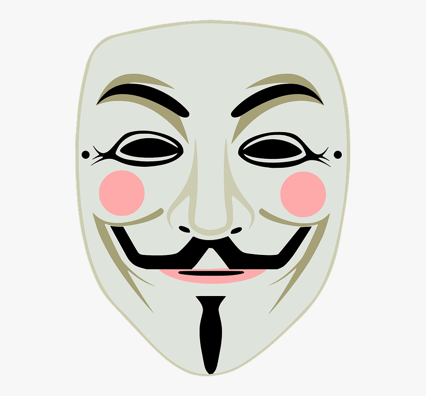 Anonymous Mask Free Png Image - Guy Fawkes Mask, Transparent Png, Free Download