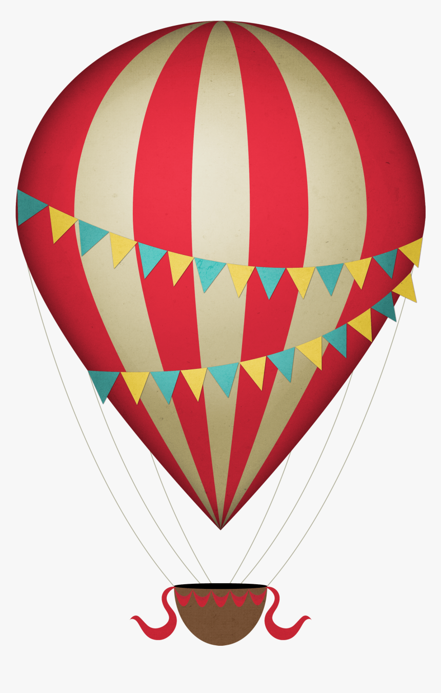 Vintage Clipart Hot Air Balloon - Hot Air Balloon Clipart Transparent Background, HD Png Download, Free Download