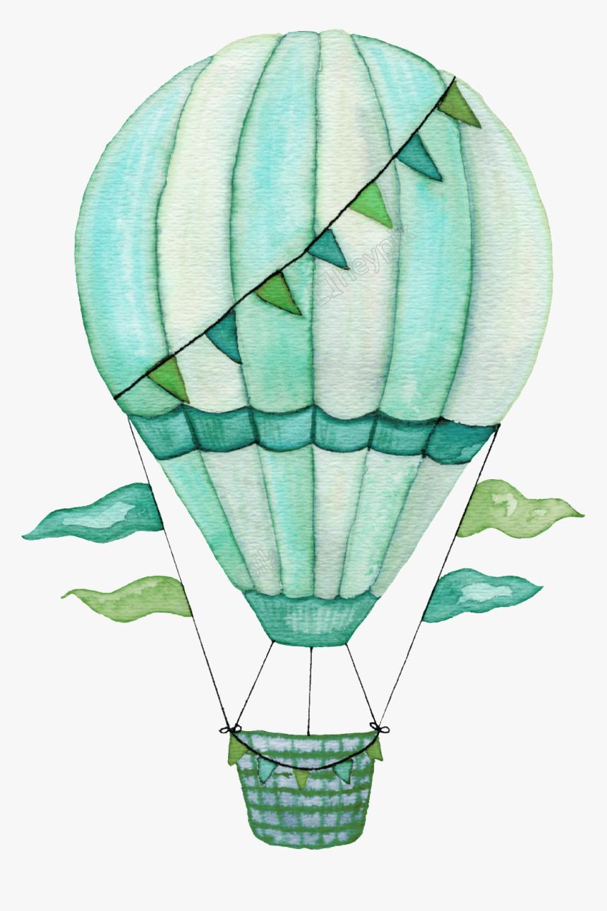 Air Balloon Png Clipart - Nursery Wall Art Hot Air Balloon, Transparent Png, Free Download