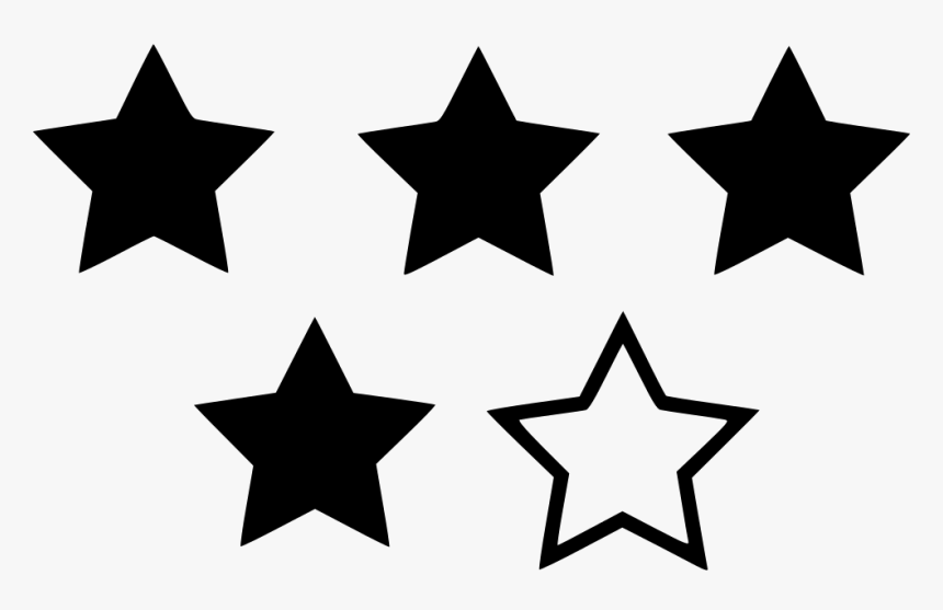 Four Star Rating - 4 Star Rating Blue, HD Png Download, Free Download