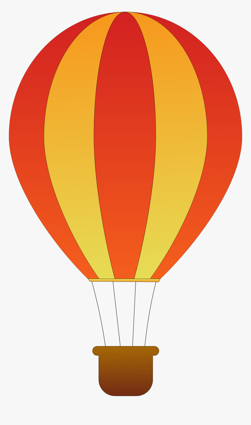 Vertical Striped Balloons Big - Hot Air Balloon Clipart, HD Png Download, Free Download