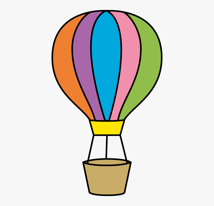 Colorful Hot Air Balloon - Colorful Hot Air Balloon Clipart, HD Png Download, Free Download