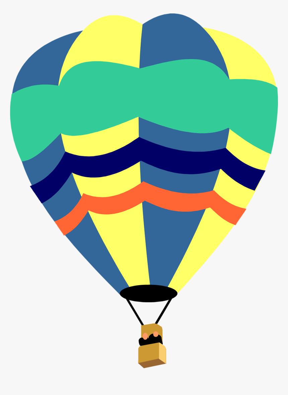 Hot Air Balloon Clip Art Outline - Cute Hot Air Balloon Clipart, HD Png Download, Free Download