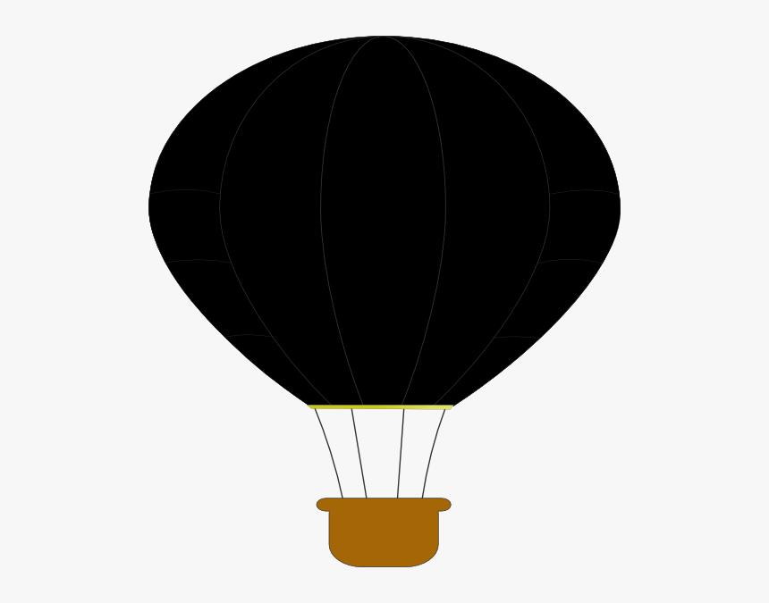 Black Hot Air Balloon Svg Clip Arts - Hot Air Balloon, HD Png Download, Free Download