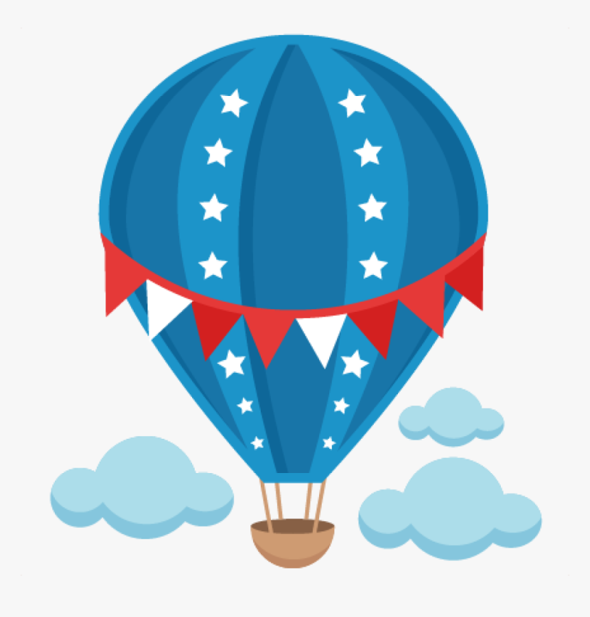 Hot Air Balloon Clip Art Free Patriotic Hot Air Balloon - Hot Air Balloon Clipart Png, Transparent Png, Free Download