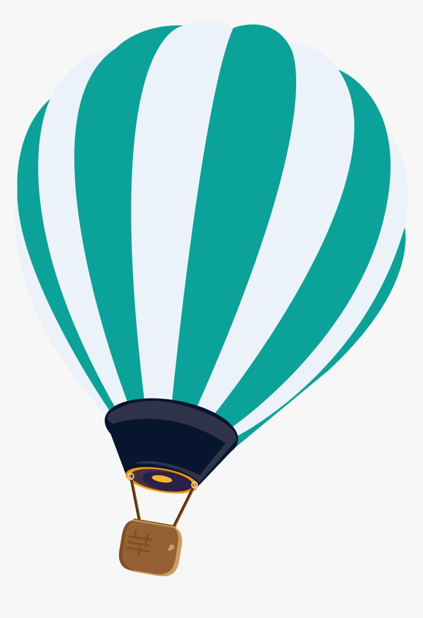 Clip Art Hot Air Balloon Vector - Blue Hot Air Balloon Vector Png, Transparent Png, Free Download