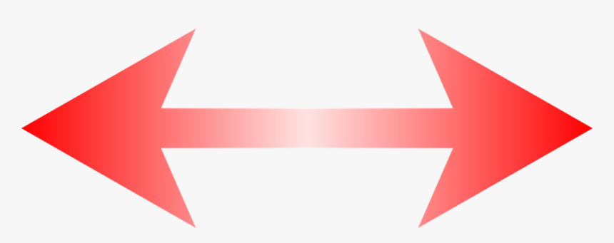 Left Right Arrow Png - Red Double Sided Arrow, Transparent Png, Free Download