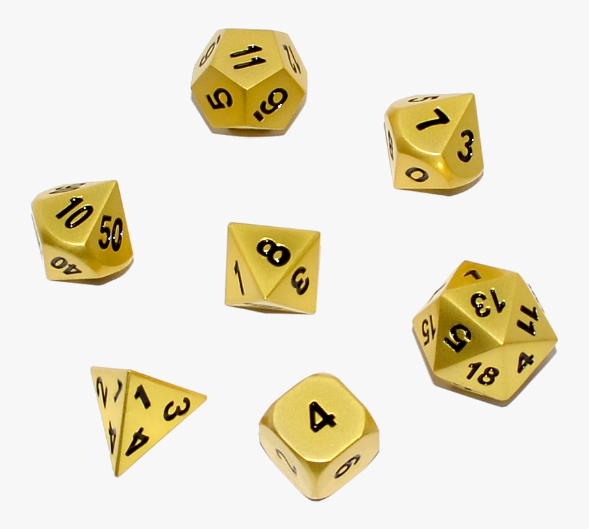 Gold D&d Dice Set, HD Png Download, Free Download