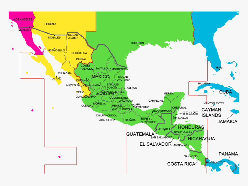 Mexico And Central America Cities, HD Png Download, Free Download