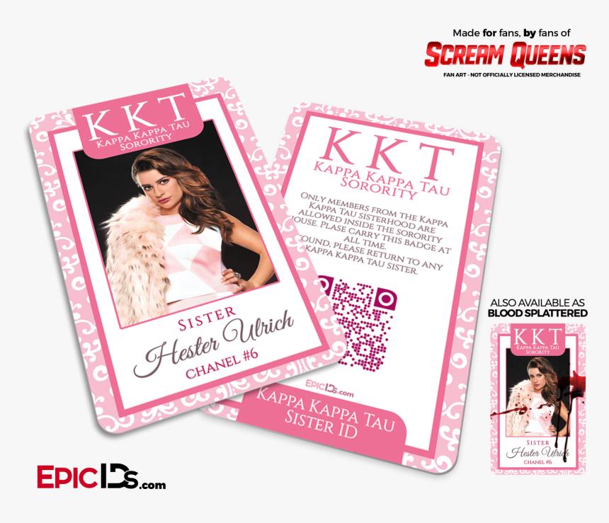 """Kappa Kappa Tau """"scream Queens - Scream Queens Sonya Herfmann, HD Png Download, Free Download"""