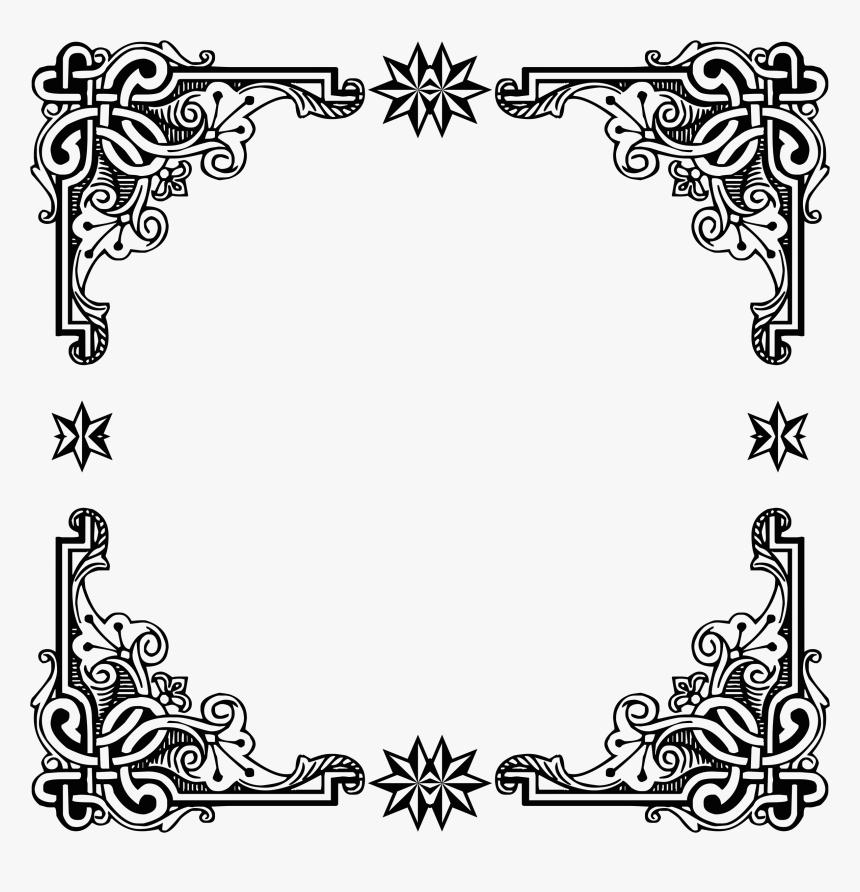 Transparent Vintage Frame Clipart - Vintage Black Frame Png, Png Download, Free Download