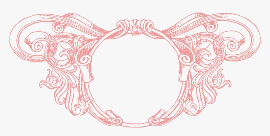 Rose Circle Vintage Frame - Pink Vintage Frames Png, Transparent Png, Free Download