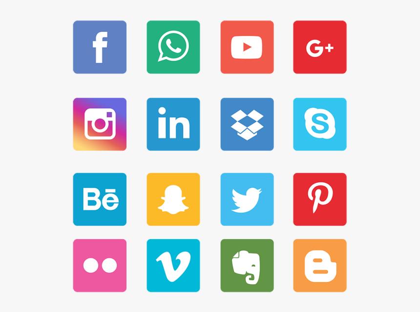 Social Network Png - Vector Social Media Icons Png, Transparent Png, Free Download