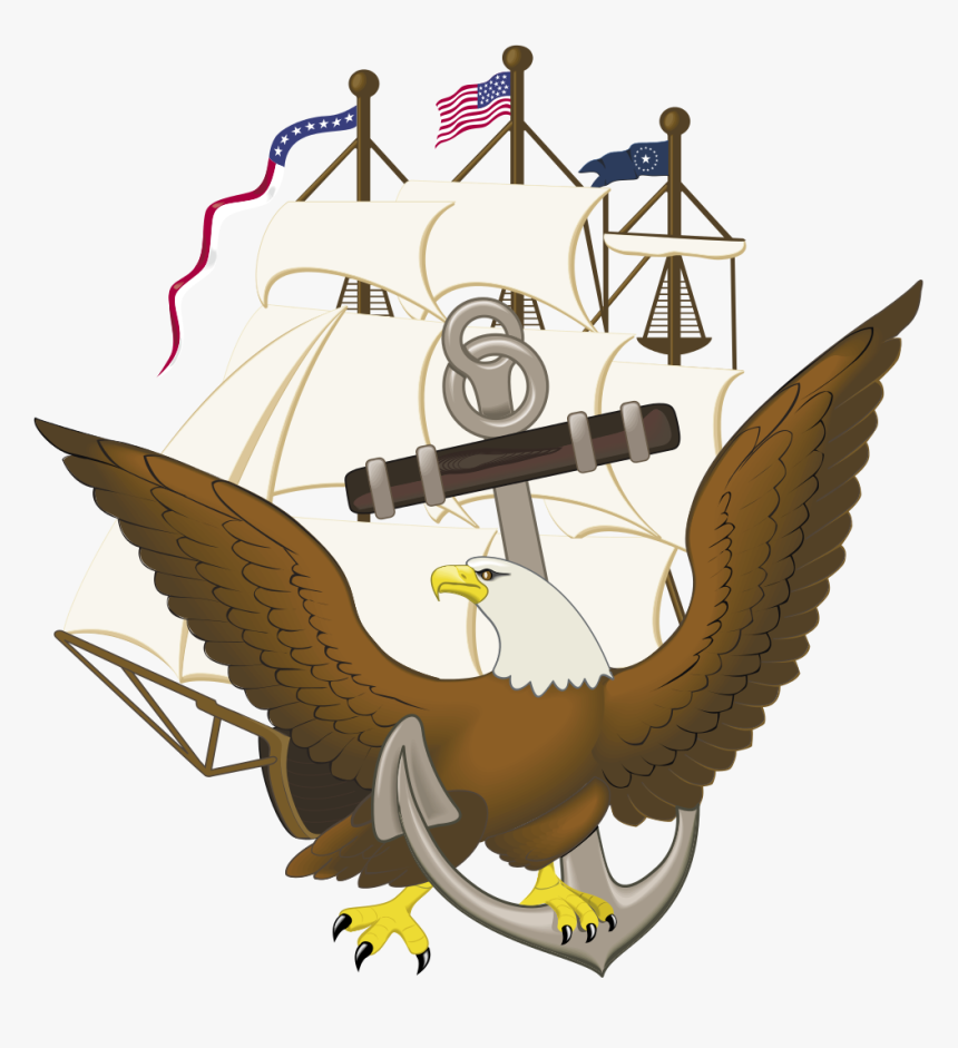 Navy Anchor Constitution And Eagle, HD Png Download, Free Download