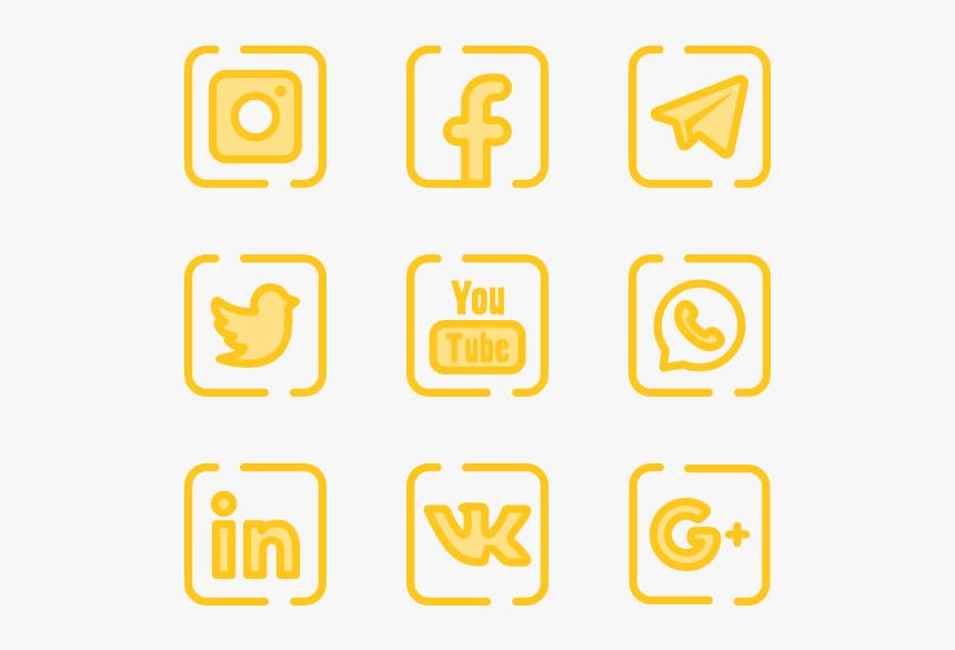 Essential Set - Social Media Pink Png, Transparent Png, Free Download
