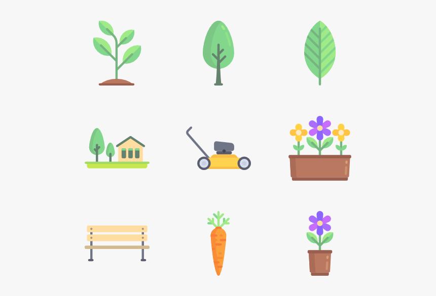 Gardening - Garden Flat Icon Pack, HD Png Download, Free Download
