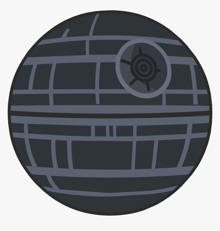 Anakin Skywalker Han Solo Death Star Star Wars Drawing - Star Wars Death Star Flat, HD Png Download, Free Download