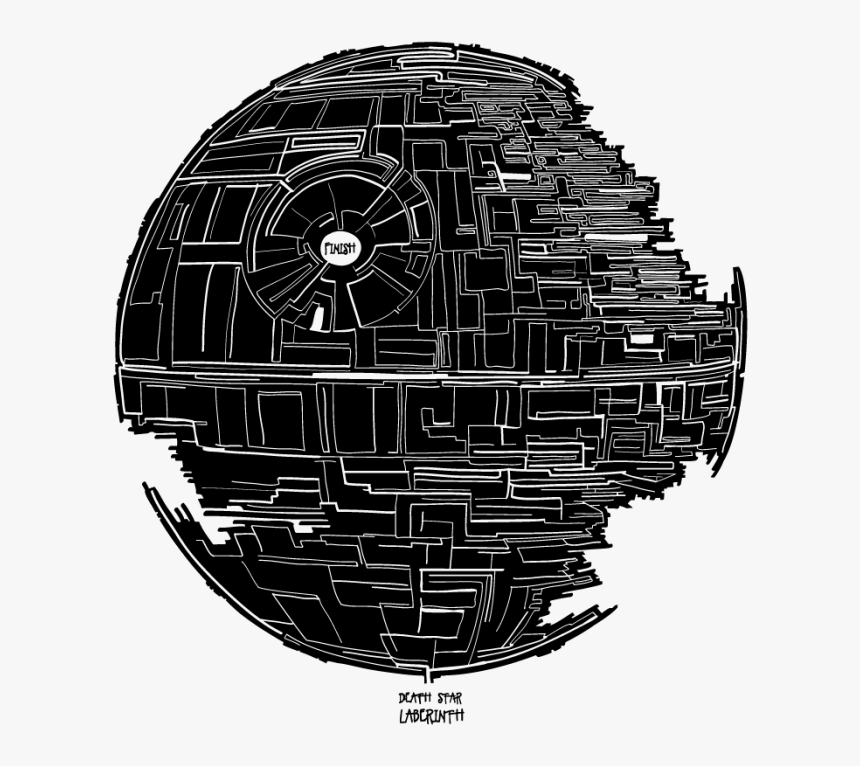 Death Star Anakin Skywalker Star Wars Drawing Photography - Star Wars Death Star Black And White Png, Transparent Png, Free Download