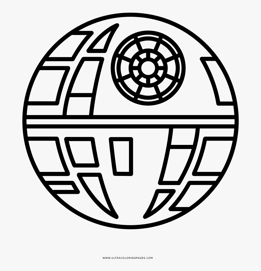 Transparent Stars Clipart Black And White - Star Wars Death Star Clipart, HD Png Download, Free Download