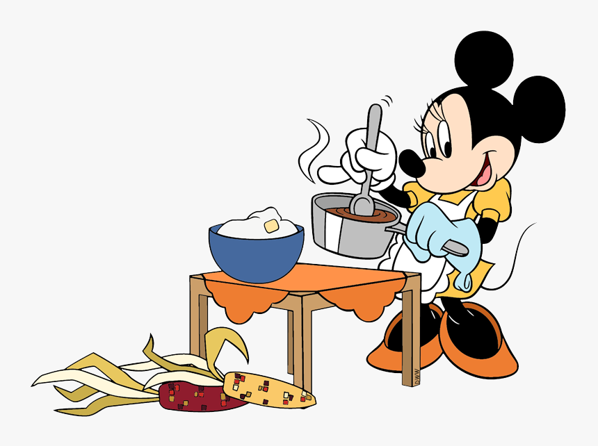 Transparent Cooking Clip Art - Mickey Mouse Cooking Clipart, HD Png Download, Free Download
