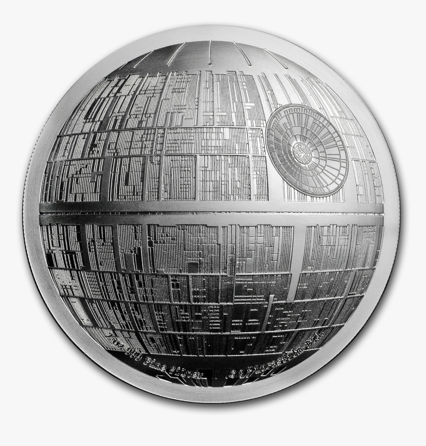 Niue Silver Star Wars - Death Star Silver Coin, HD Png Download, Free Download