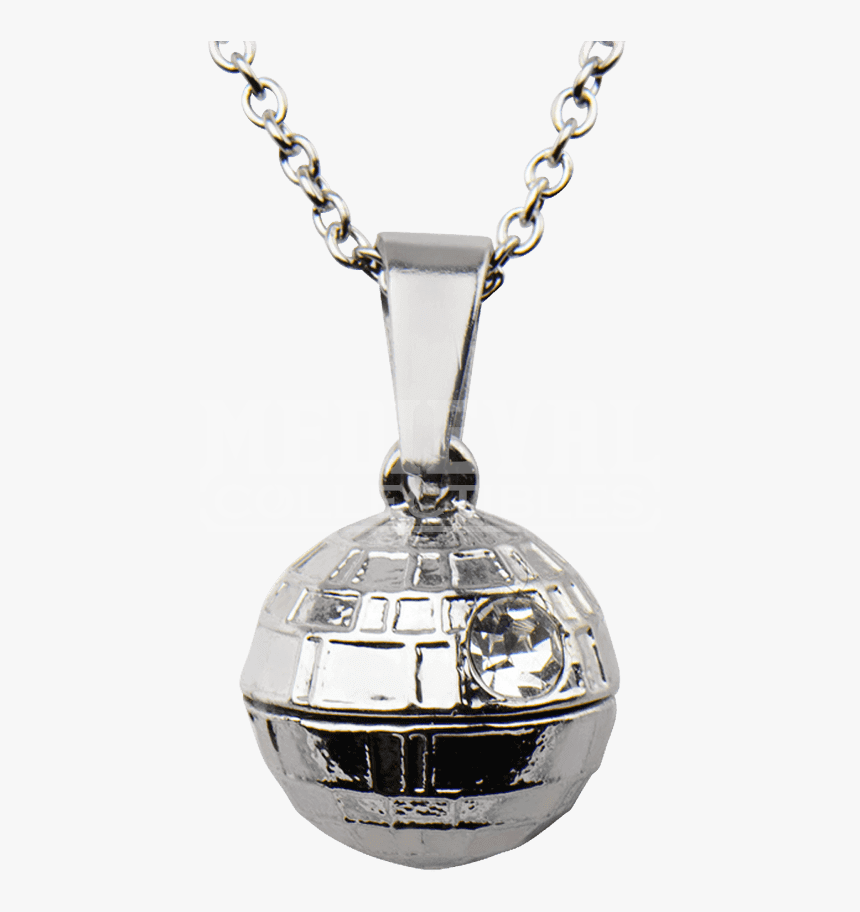 Womens Stainless Steel 3d Death Star Necklace - Locket, HD Png Download, Free Download
