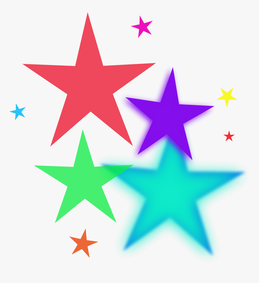 Shooting Stars Clipart Free - Rainbow Star Clipart, HD Png Download, Free Download