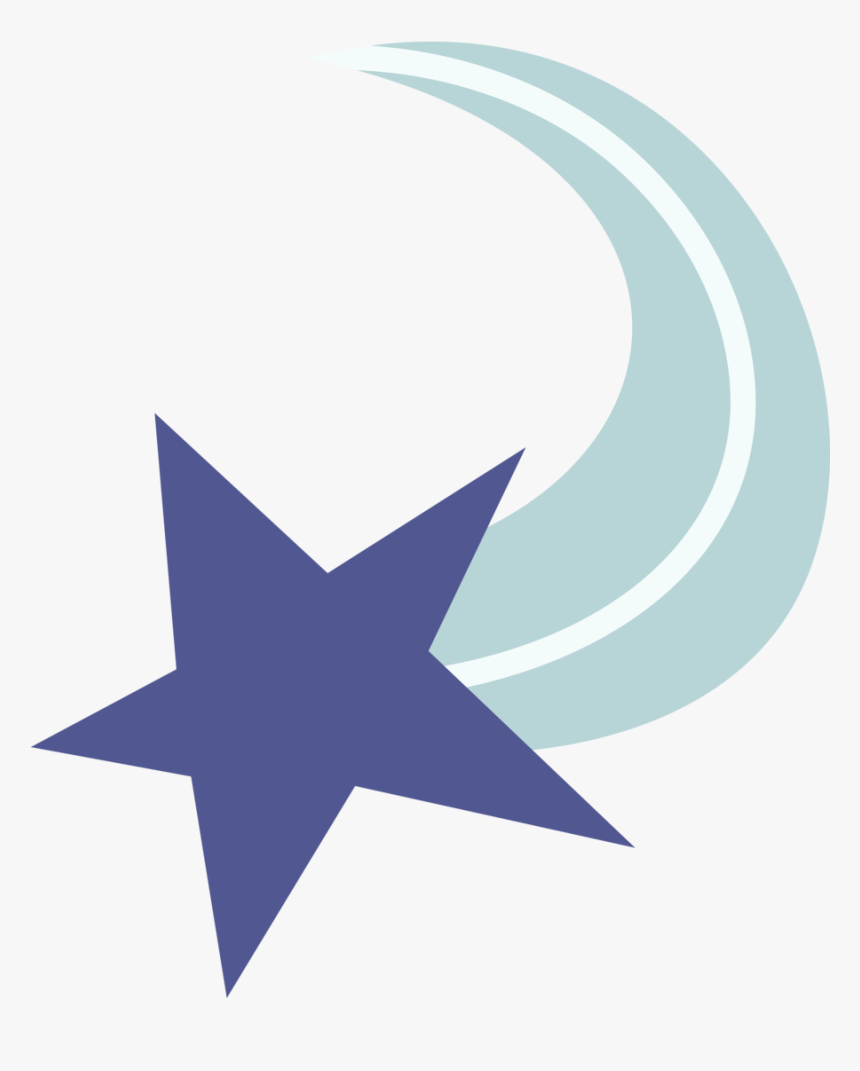 Shooting Star Png Transparent Background - Mlp Star Cutie Mark, Png Download, Free Download