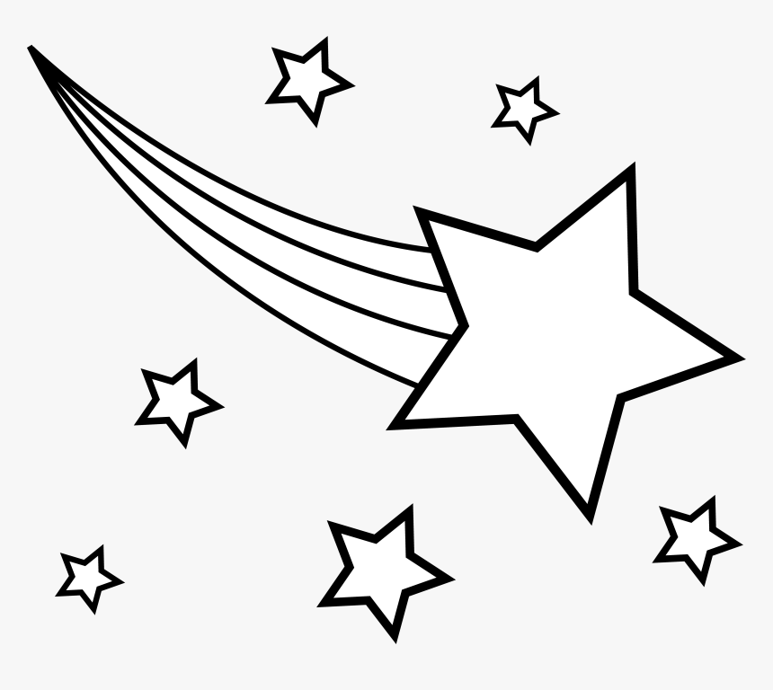 Shooting Star Clipart - Shooting Star Clipart Black And White, HD Png Download, Free Download