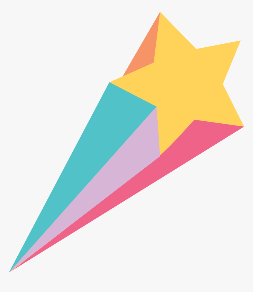Shooting Star Svg Cut File Triangle Hd Png Download Kindpng