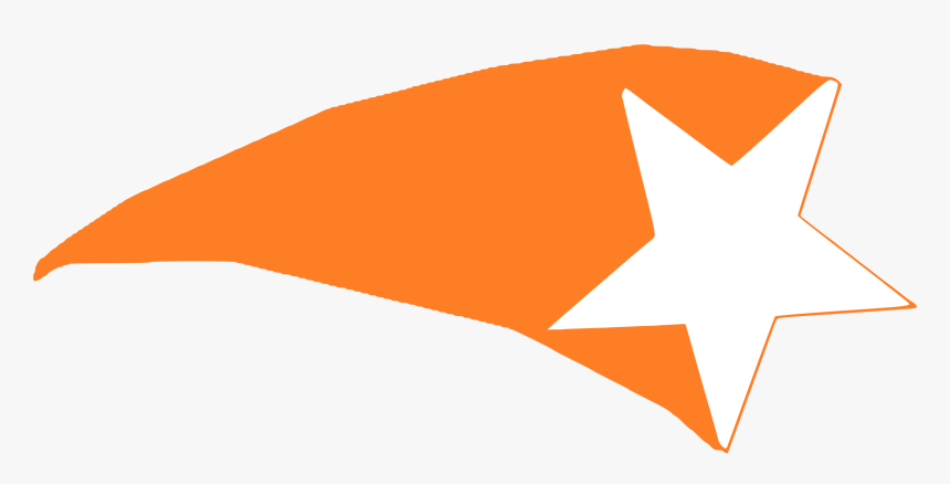 Shooting Star 2 Clip Arts - Star Shooting Orange, HD Png Download, Free Download