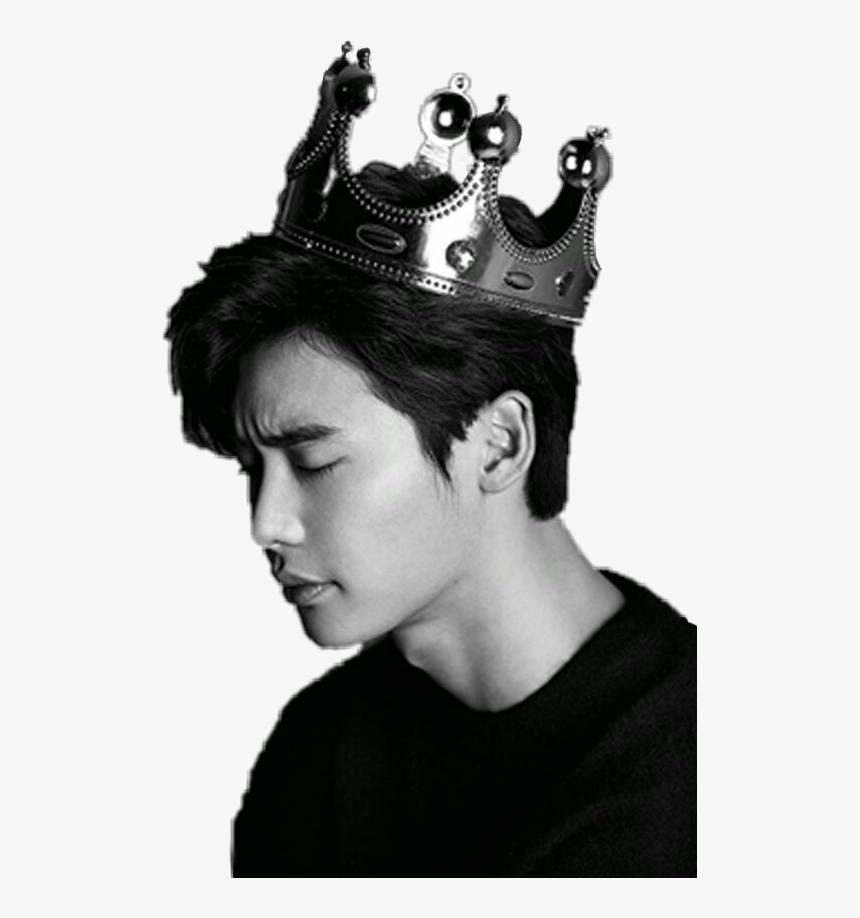 Leejongsuk Korean King Crown Blackandwhite Lee Jong
