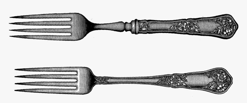Transparent Fork Png - Vintage Fork Clip Art, Png Download, Free Download