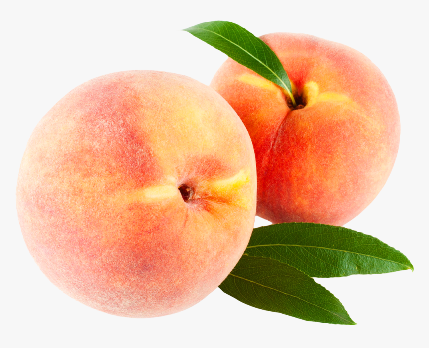 Peach With Leaves Png Image - Clipart Transparent Background Peaches, Png Download, Free Download