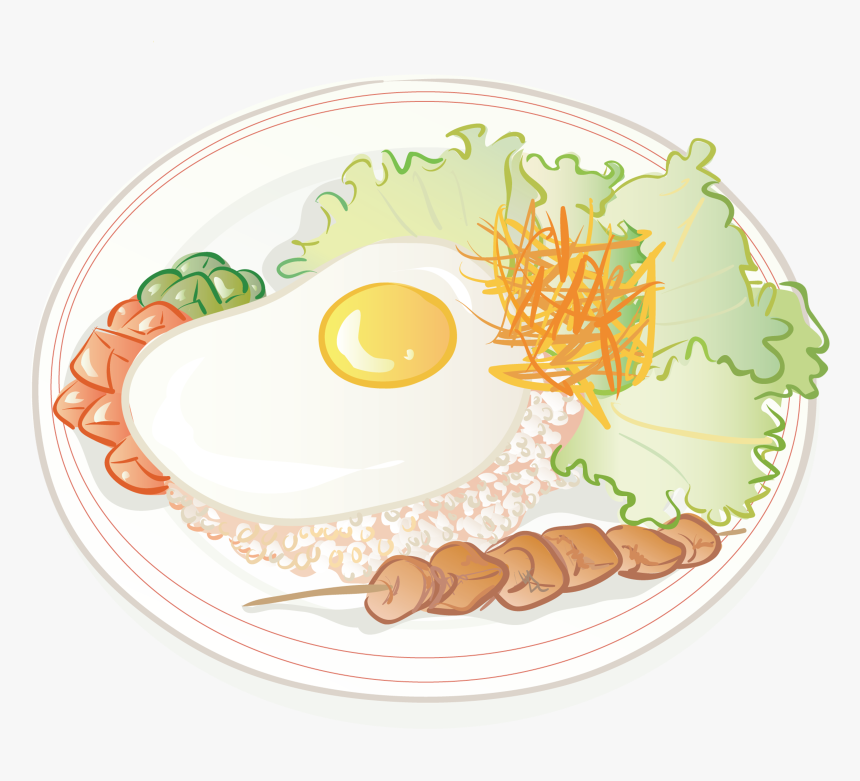 Rice Transparent Plate Png - Rice In A Plate Cartoon, Png Download, Free Download