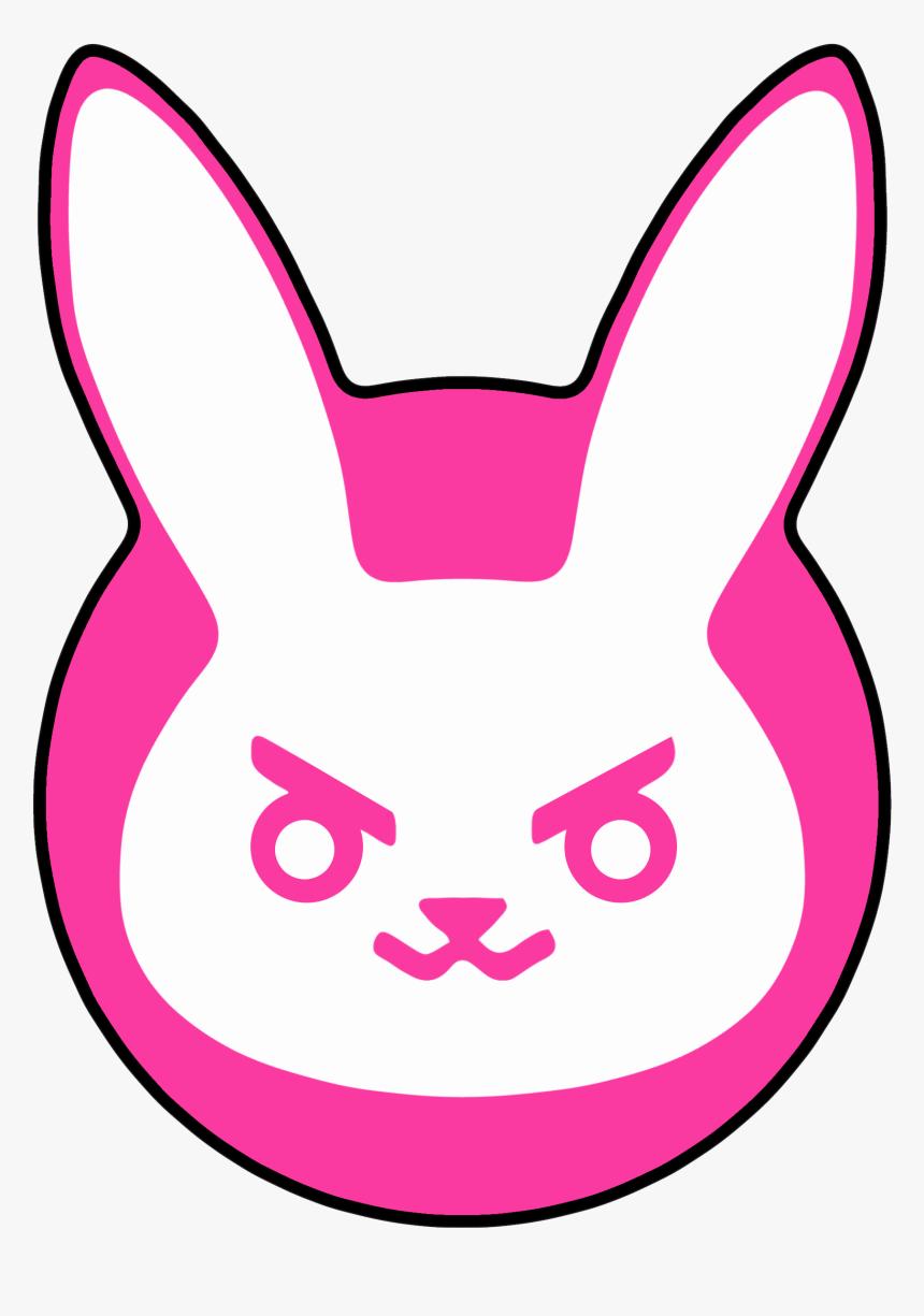 Overwatch Sprays Png - D Va Bunny Spray, Transparent Png, Free Download