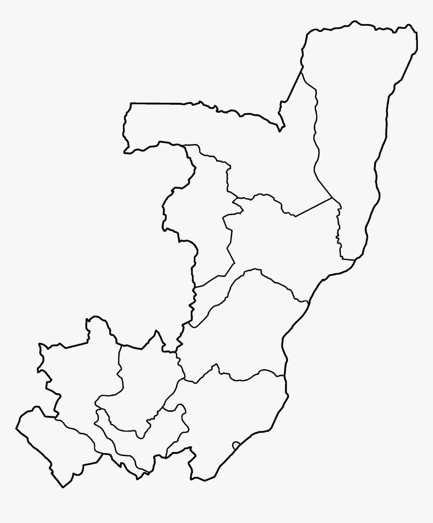 Congo Regions Blank - Blank Map Of The Republic Of Congo, HD Png Download, Free Download