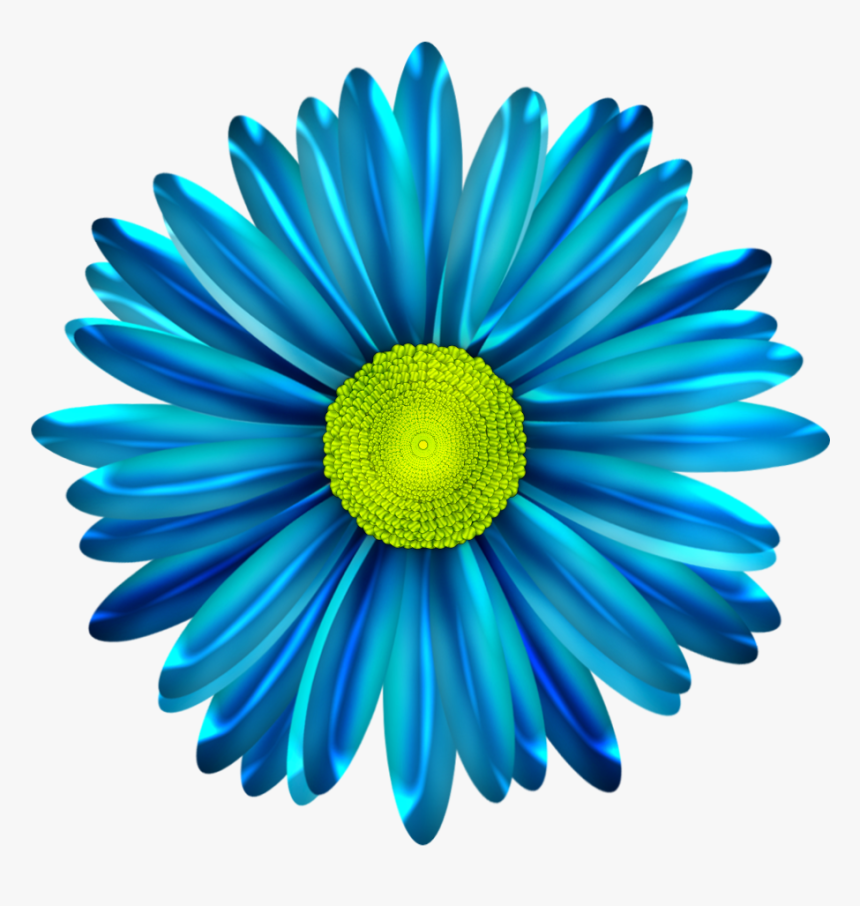 Blue Flower Clipart Blue Daisy - Blue Daisy Flower Clipart, HD Png Download, Free Download