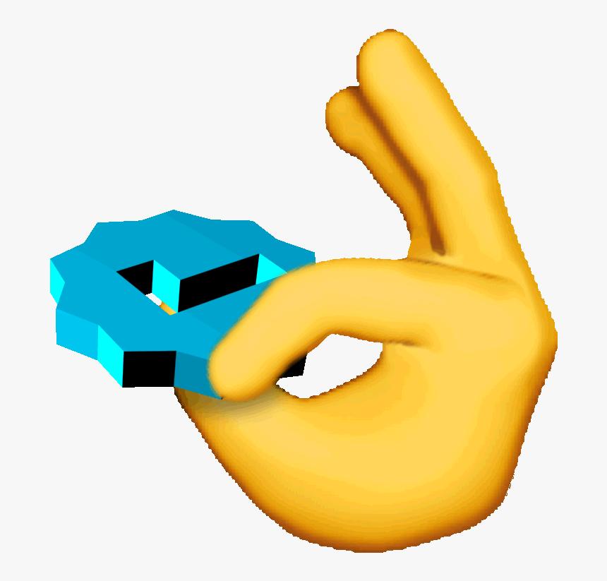 Emoji Spinning Sticker By Chris Cubellis - Ok Emoji Meme Gif, HD Png Download, Free Download