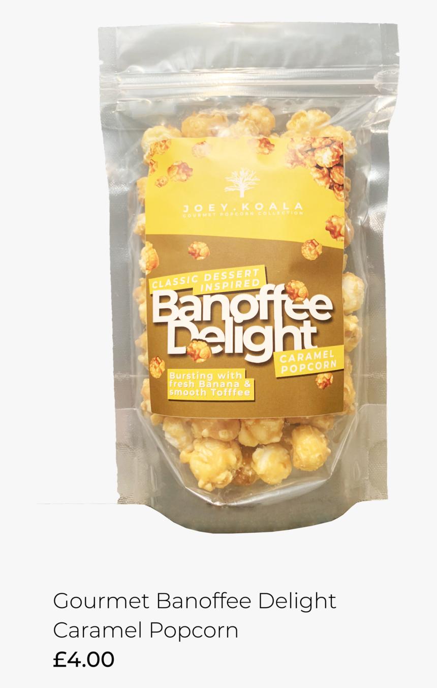 Gourmet Banoffee Delight Popcorn 100gr Joey - Kettle Corn, HD Png Download, Free Download