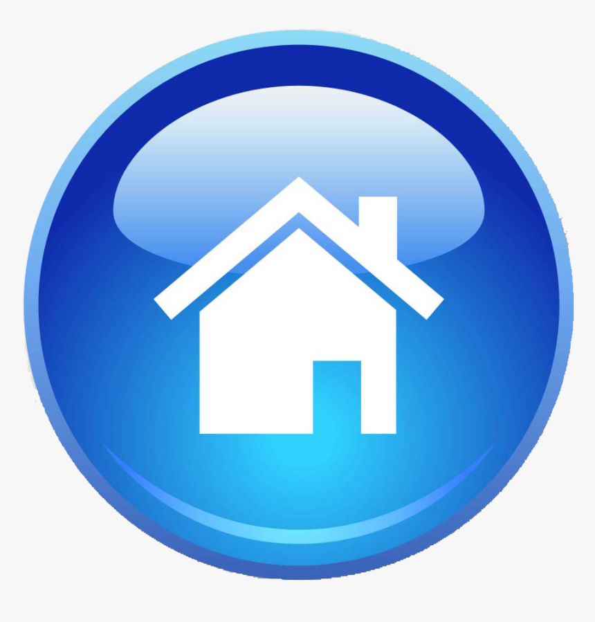 Blue Home Page Icon Png - Website Icon Home Png, Transparent Png, Free Download