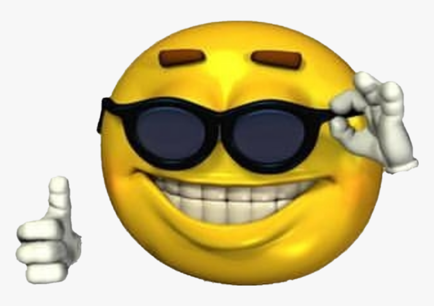 #ironicmeme #ironic #png #sunglasses #emoji #smileyface - Ironic Meme Smiley Face, Transparent Png, Free Download