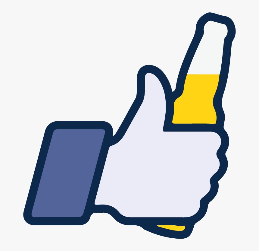 Facebook Like Beer Icon Vector Logo Thumbs Up - Facebook Like With Beer, HD Png Download, Free Download