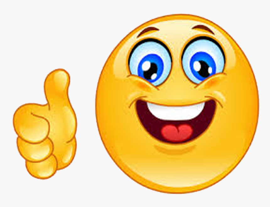 Emoticon Good Thumb Icons Signal Smiley Job - Thumbs Up Smiley, HD Png Download, Free Download