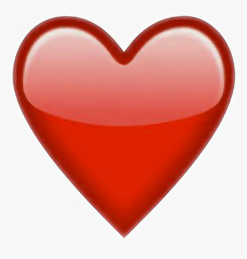 Heart Red Redheart Snapchat Snapchatsticker Sticker - Transparent Background Red Heart Emoji, HD Png Download, Free Download