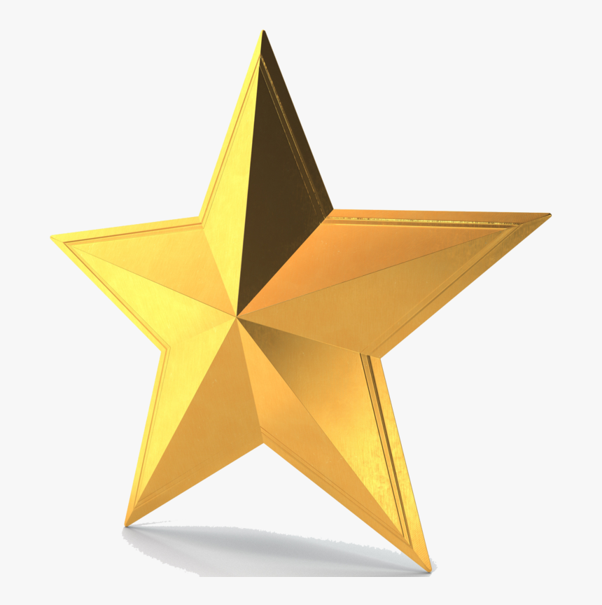 3d Gold Star Png Pic - 3d Gold Star Png, Transparent Png, Free Download