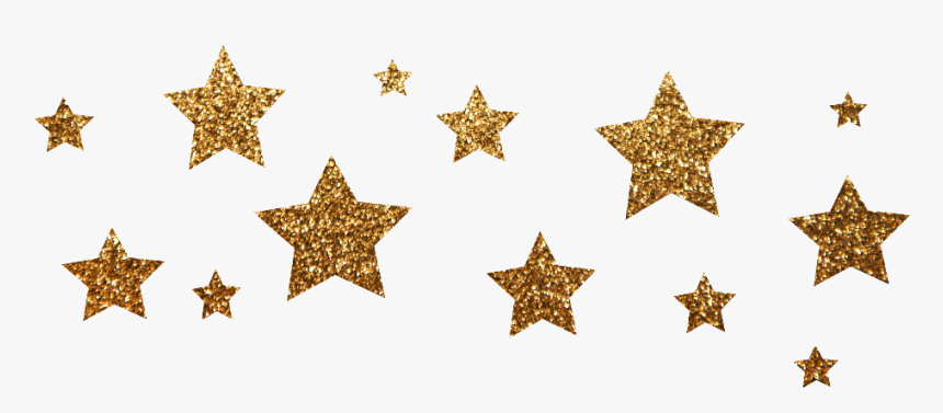 Transparent Gold Stars Clipart - Gold Glitter Stars Png, Png Download, Free Download